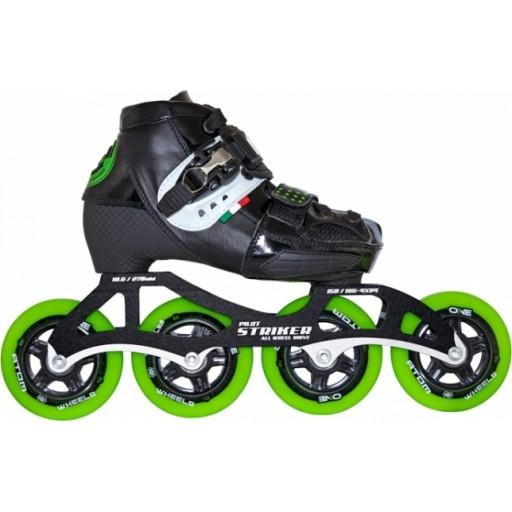 Luigino Kid/'s Challenge Adjustable 3 Wheel Package Youth Inline Speed Skates